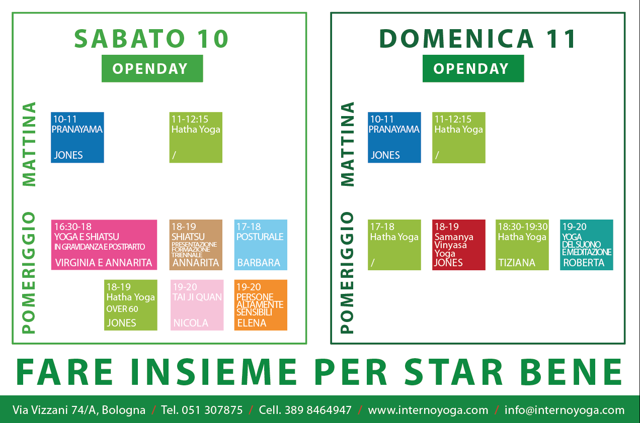 Programma Openday autunno 2016 internoyoga