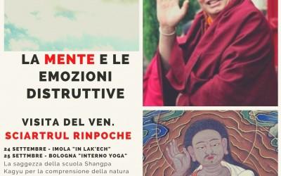 Mente ed emozioni – Visita del Ven. Sciartrul Rinpoche